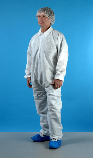 Polypropylene Coverall Disposable Cleanroom Apparel Nci