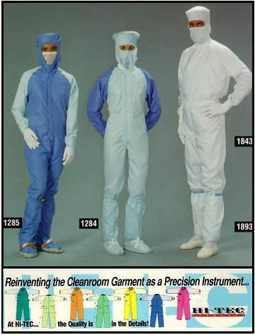Launderable Cleanroom Apparel Reusable Garments Nci